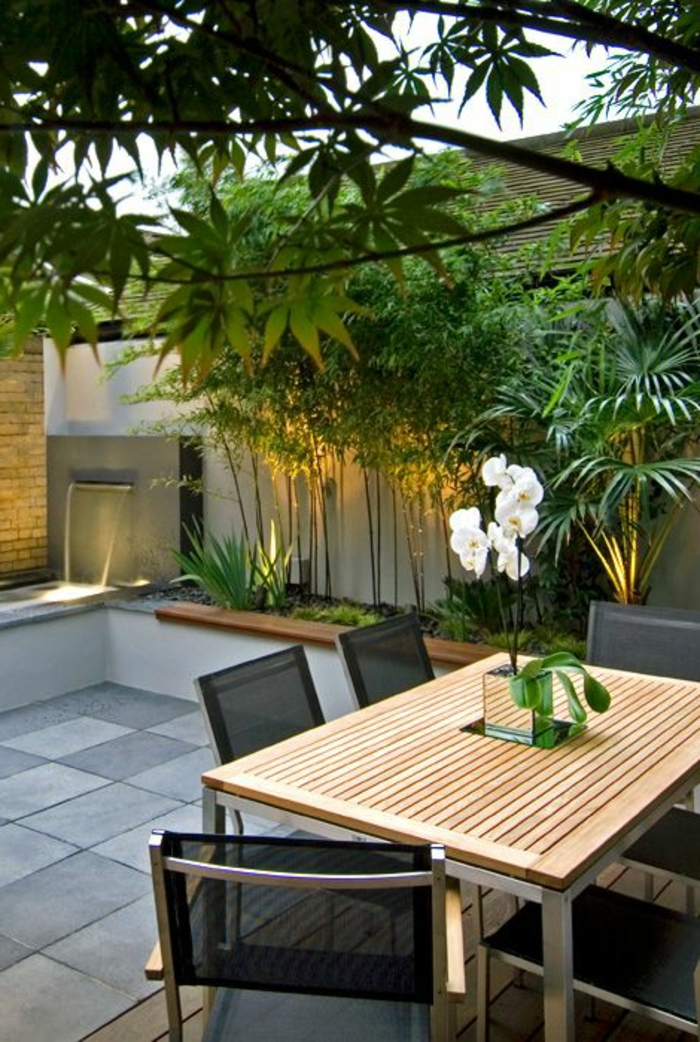60 photos comment bien am nager sa terrasse murs gris for Jardin decoration terrasse