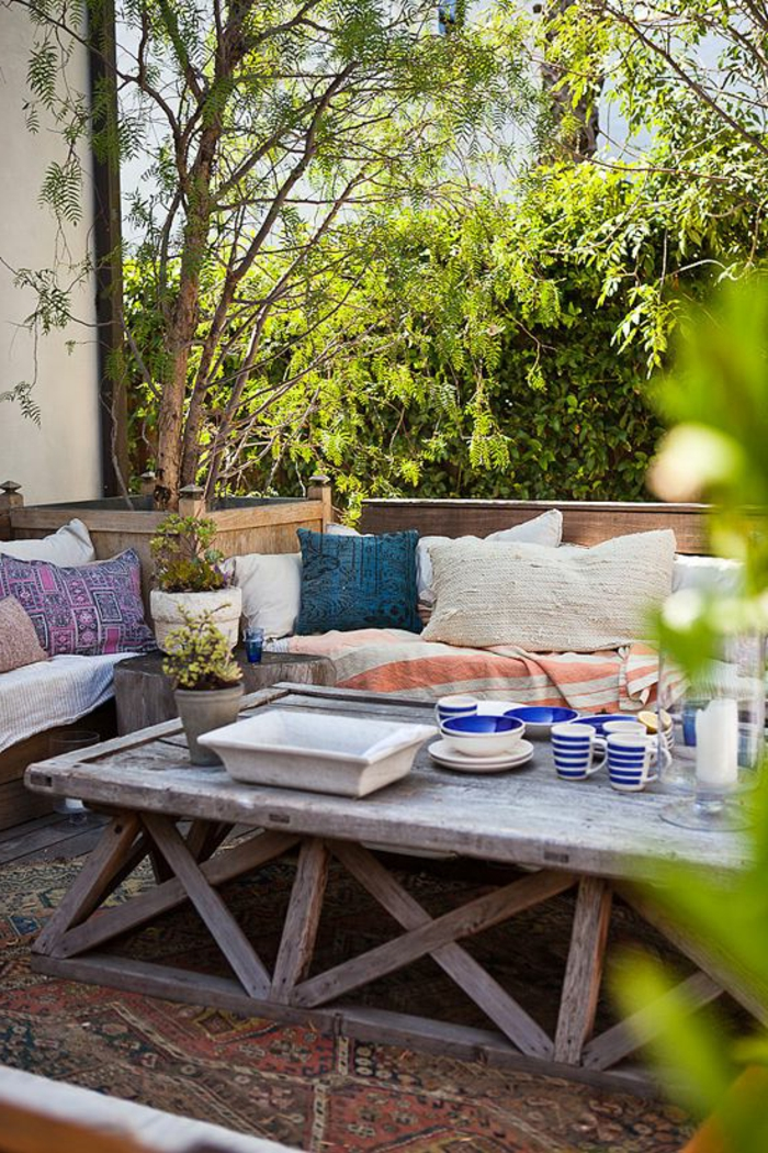 60 photos comment bien am nager sa terrasse for Deco jardin bois exterieur