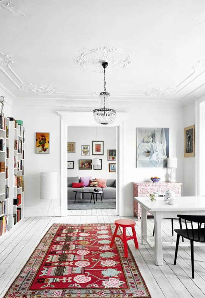 Choisir le meilleur tapis scandinave avec notre galerie - Appartement moderne russe inspiration nordique ...