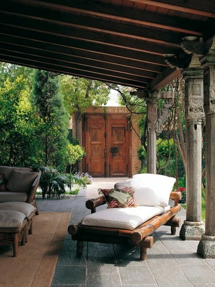 Jolies variantes pas cher pour un meuble en bambou - Salon de jardin confortable et zen ...