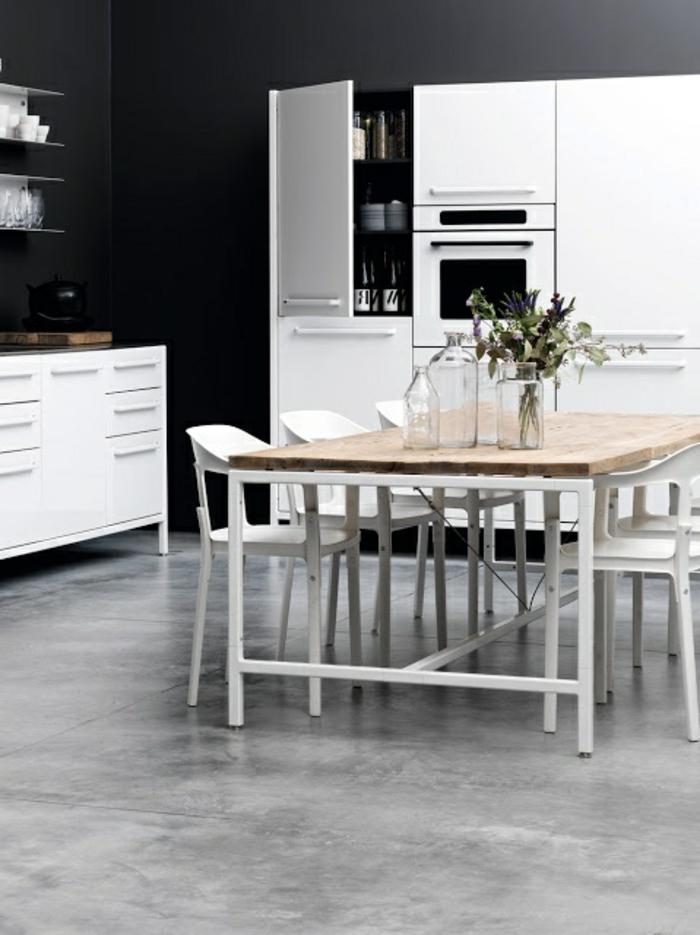 jolie-cuisine-avec-murs-noirs-et-béton-ciré-plan-de-travail-pour-la-cuisine-grise