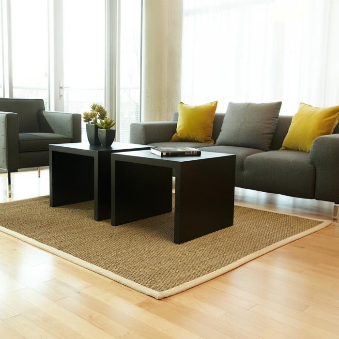 jonc-de-mer-saint-maclou-tapis-salon-tapis-sisal-tapis-jonc-de-mer-cool-canapé-gris-sofa-et-fauteuil