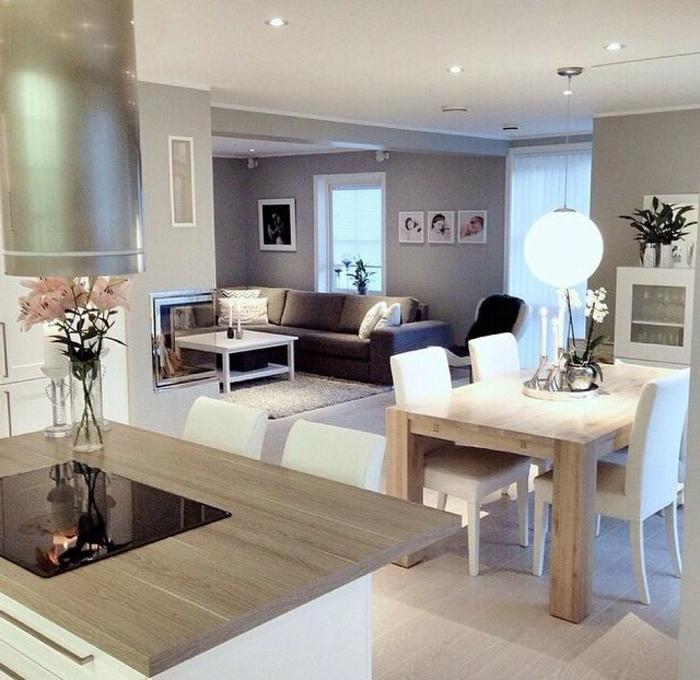 D couvrir la beaut de la petite cuisine ouverte for Decoration salle salon maison
