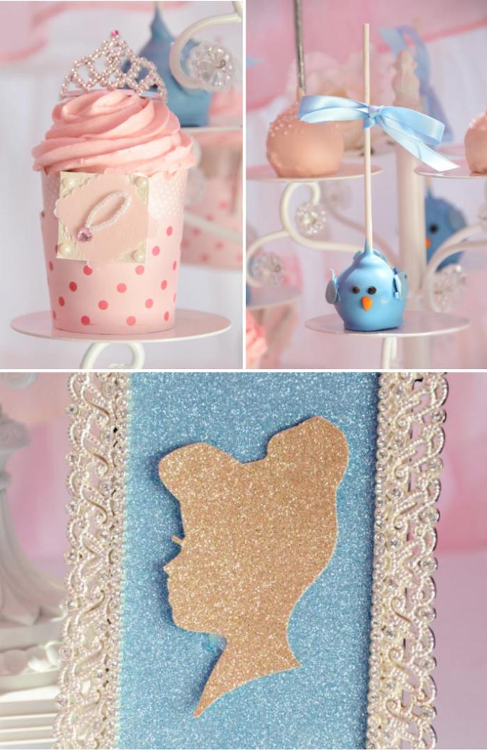 l-idéco-table-avec-la-carrosse-cendrillon-Disney-centre-de-table-mariage-gâteau-cendrillon-silhouette