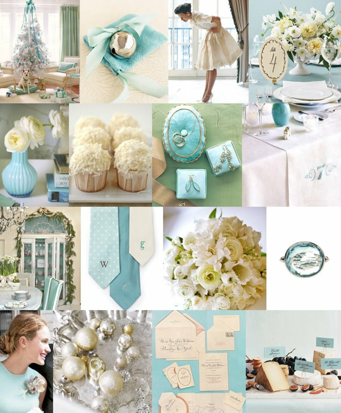 Tiffany Blue Wedding Decoration Ideas: La Belle Au Bois Dormant Disney Inspiration Pour La Déco