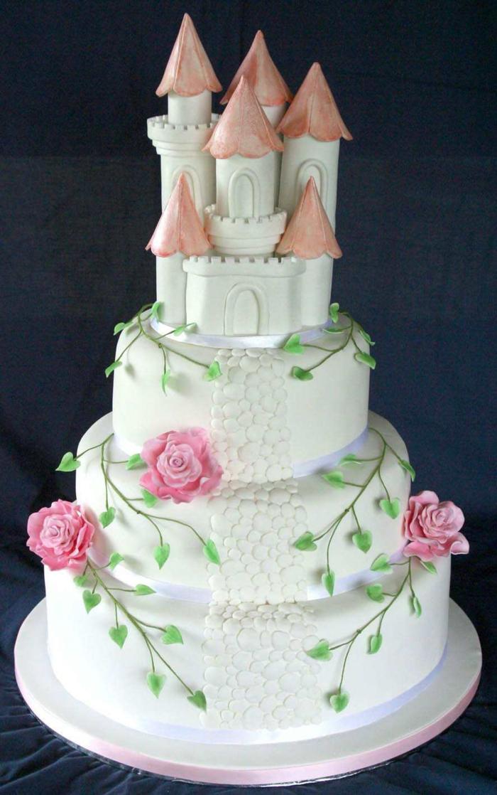 la-belle-au-bois-dormant-mariage-disney-gâteau-anniversaire-fille-chateau