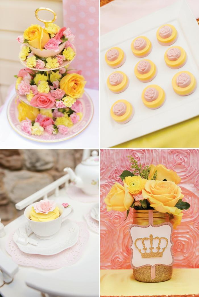 la-belle-et-la-bete-design-déco-anniversaire-disney-inspiration-idées-à-faire-soi-même-tea-party-rose-et-jaune