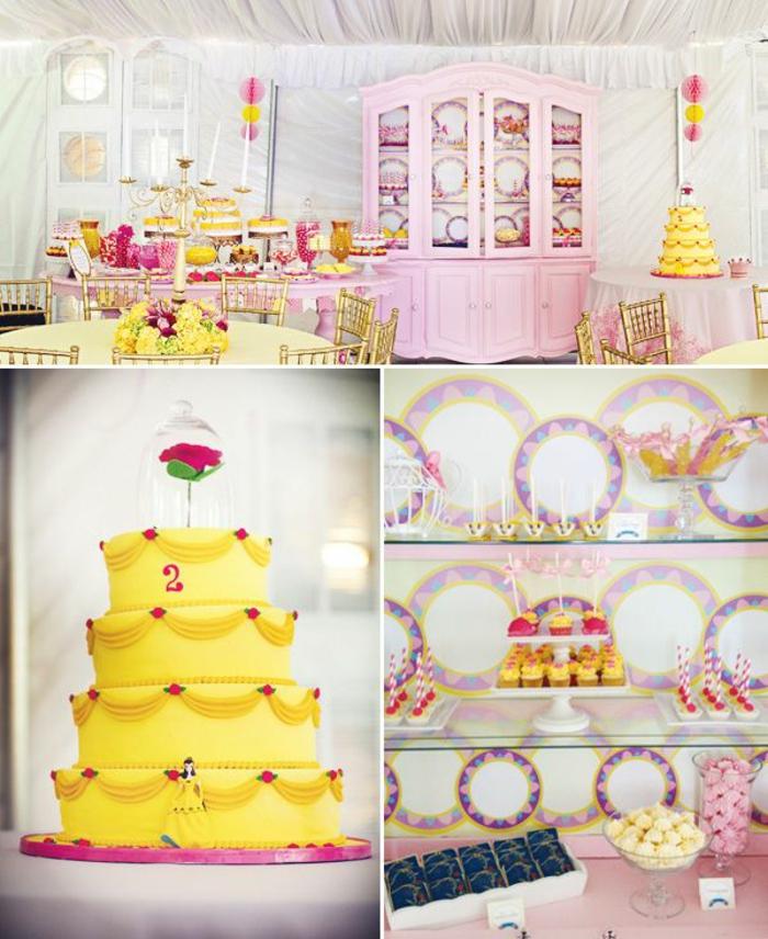 la-belle-et-la-bete-disney-comment-faire-Belle-déco-anniversaire-déco-jaune-et-rose