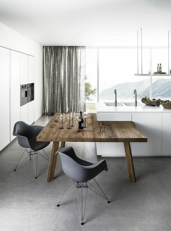 la-cuisine-blanche-et-bois-image-cuisine-laquée-blanche-laquee-table-en-bois