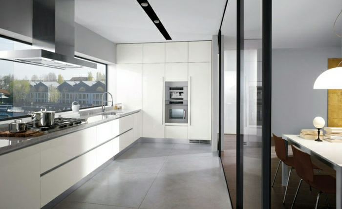 La cuisine blanche laqu e en 35 photos qui vont vous for Cuisine laquee blanche