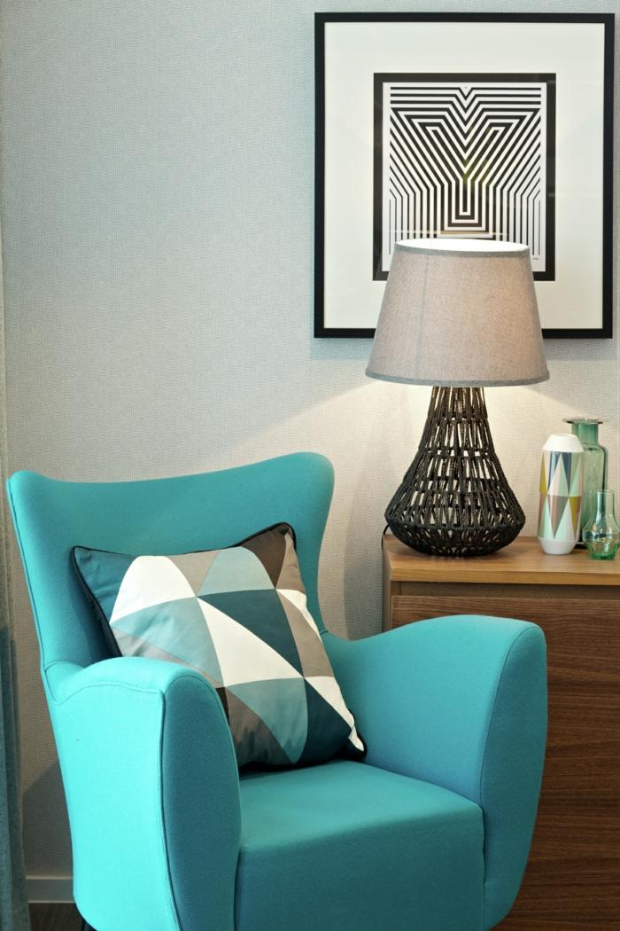 la-housse-coussin-design-idées-aménagement-intérieur-bleu-fauteuil