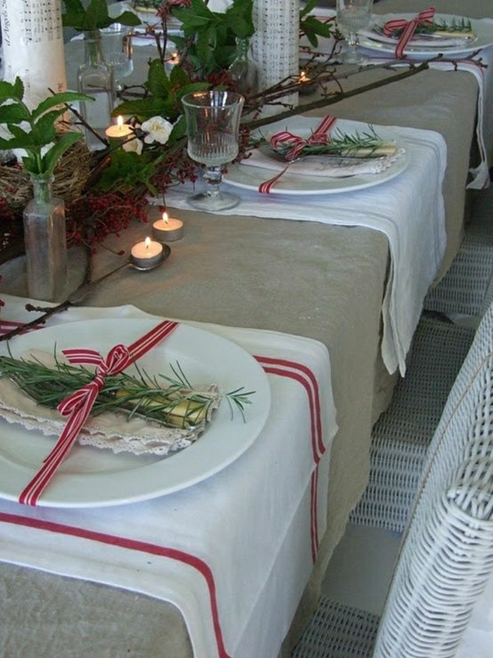 La nappe en lin un d tail styl la d co - Nappe de table pour noel ...
