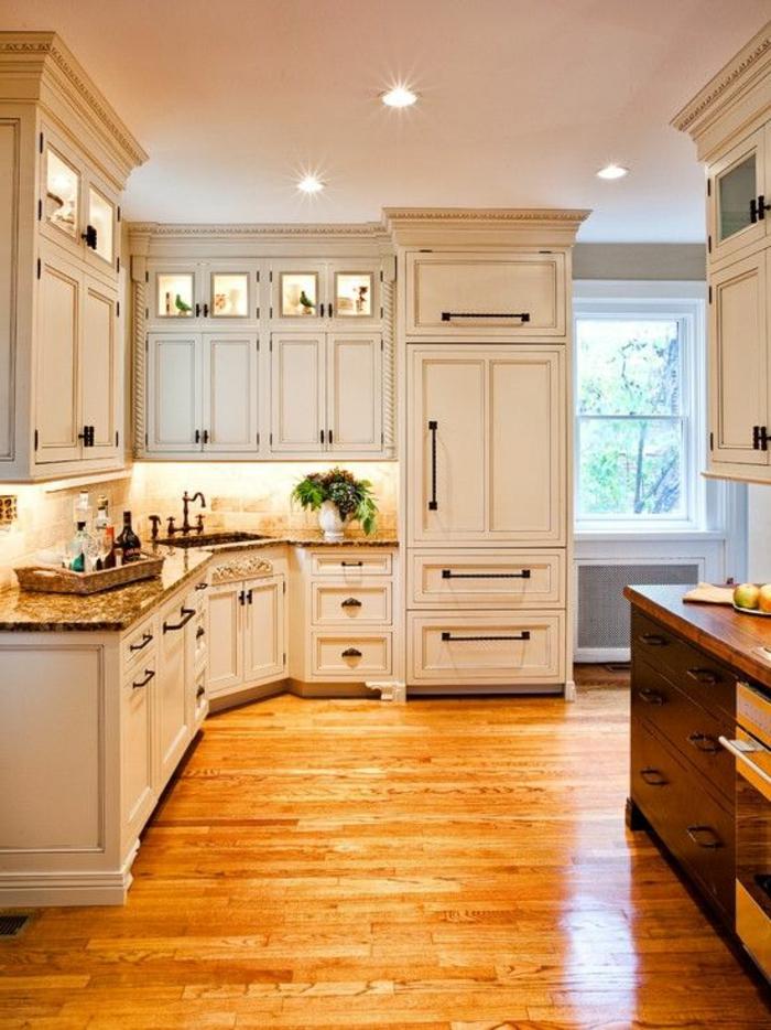 D couvrir la beaut de la petite cuisine ouverte for Parquet pour cuisine ouverte