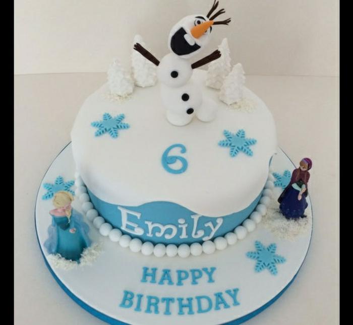 ... la Reine des neiges Anna, Elsa et olaf - gateaux reine des neiges