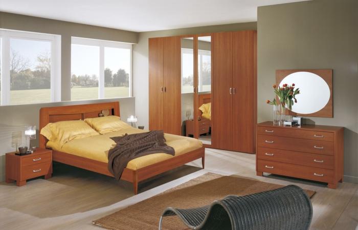 le-lit-adulte-avec-rangement-design-idée-originale-tête-de-lit-orange-et-bois