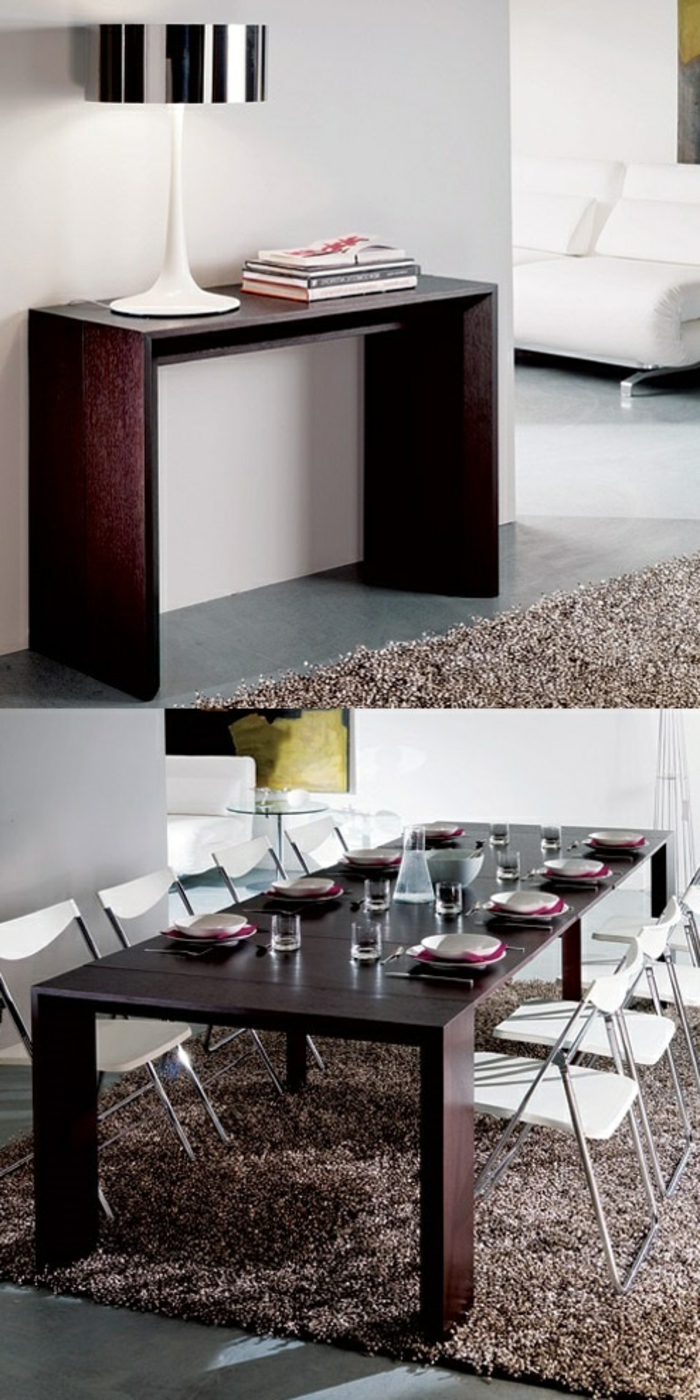 table de cuisine gain de place fashion designs. Black Bedroom Furniture Sets. Home Design Ideas