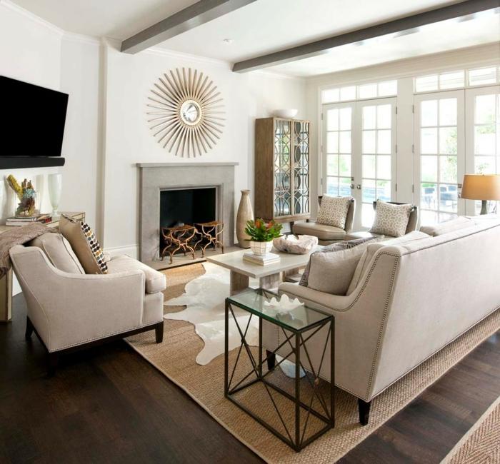 le-tapis-en-jonc-de-mer-salon-stylé-rustique-classique-originale-beau-salon
