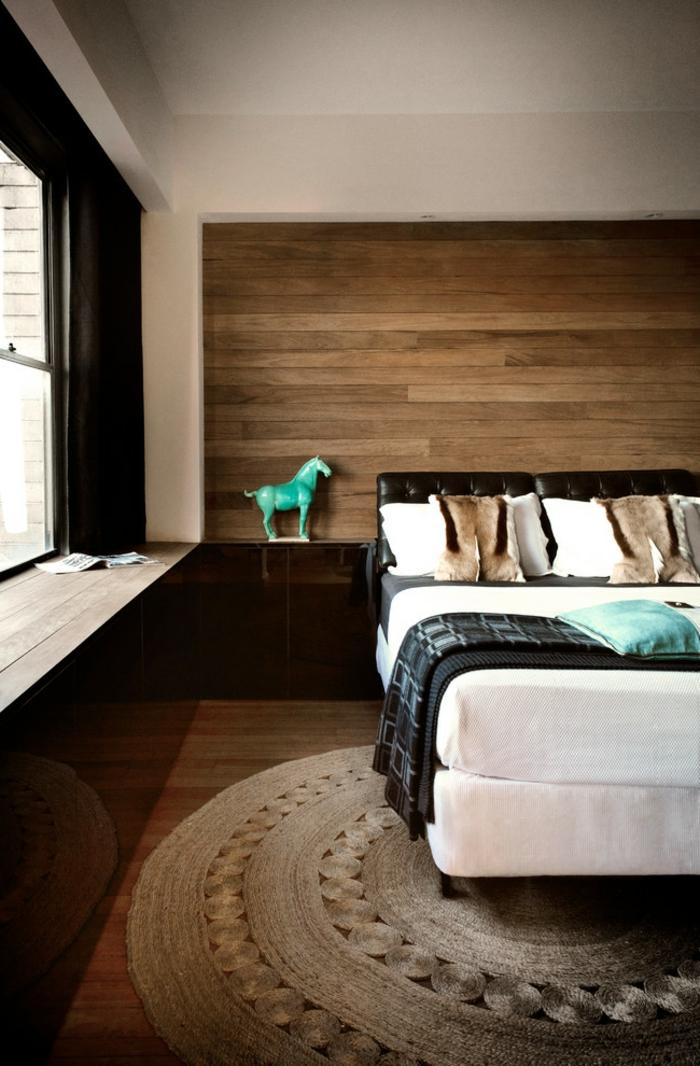 le-tapis-en-jonc-de-mer-salon-stylé-rustique-classique-originale-chambre-lit-coucher