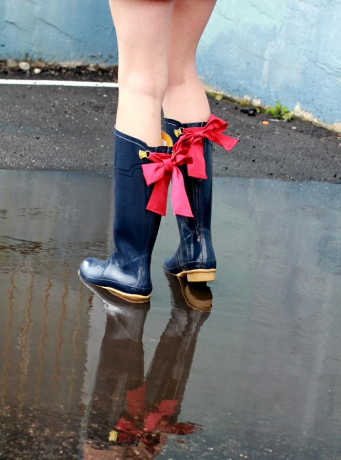 les-bottes-caoutchouc-bottines-de-pluie-femme-confort-rubain-rouge-bottes-hunter