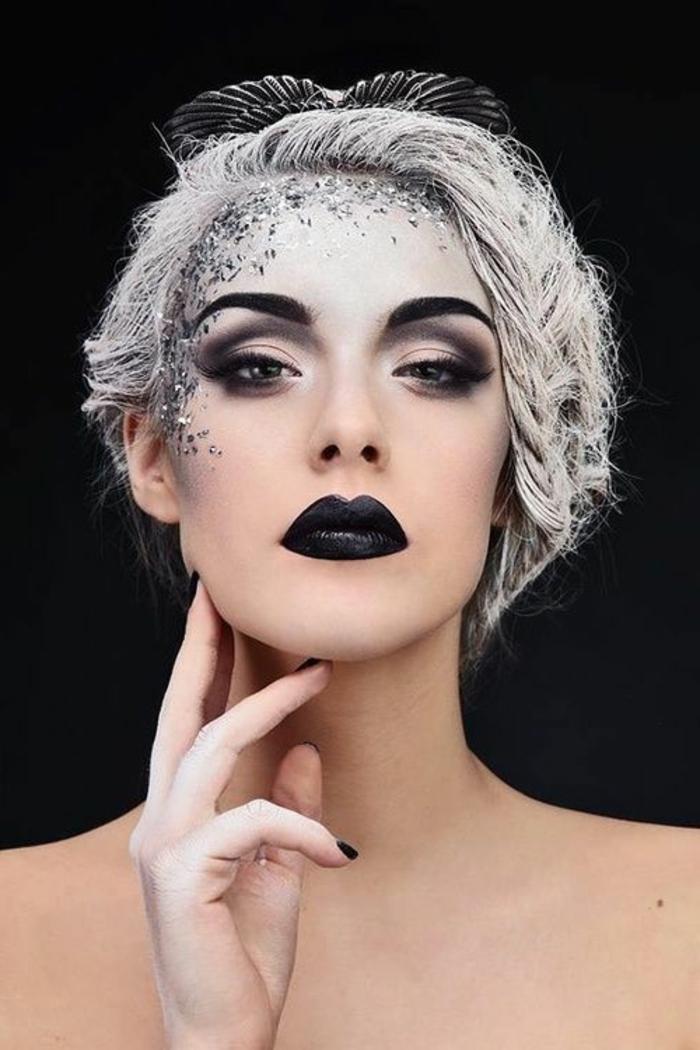 les-dernières-tendances-dans-le-maquillage-noir-et-blanc-une-jolie-fille-moderne