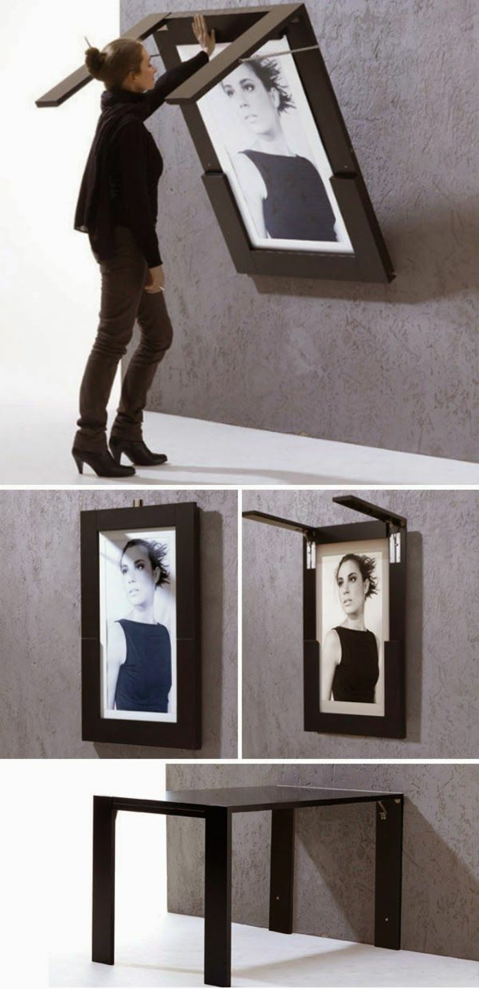 les-meubles-gain-de-place-pour-le-salon-mur-gris-avec-une-peinture-table