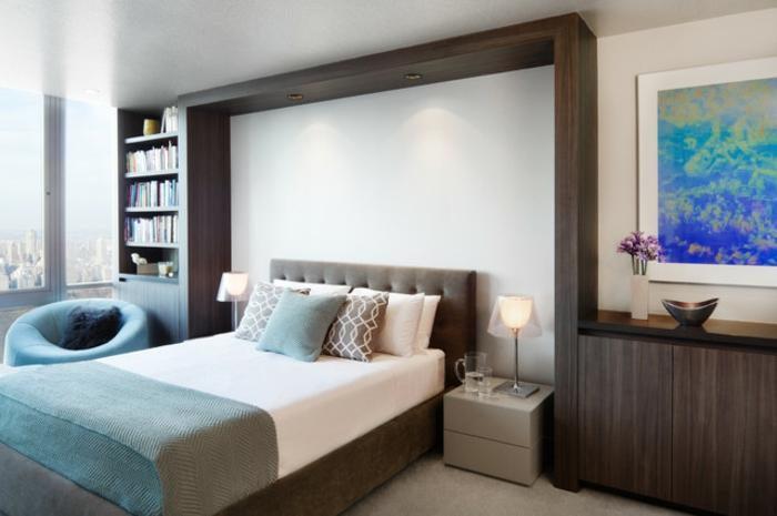 lit-adulte-dans-la-chambre-a-coucher-but-idées-intérieur-stylé-belle-tableau-artistique