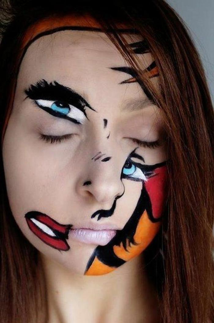 maquillage-artistique-professionnel-pour-hallowen-une-jolie-idee-maquillage-fete