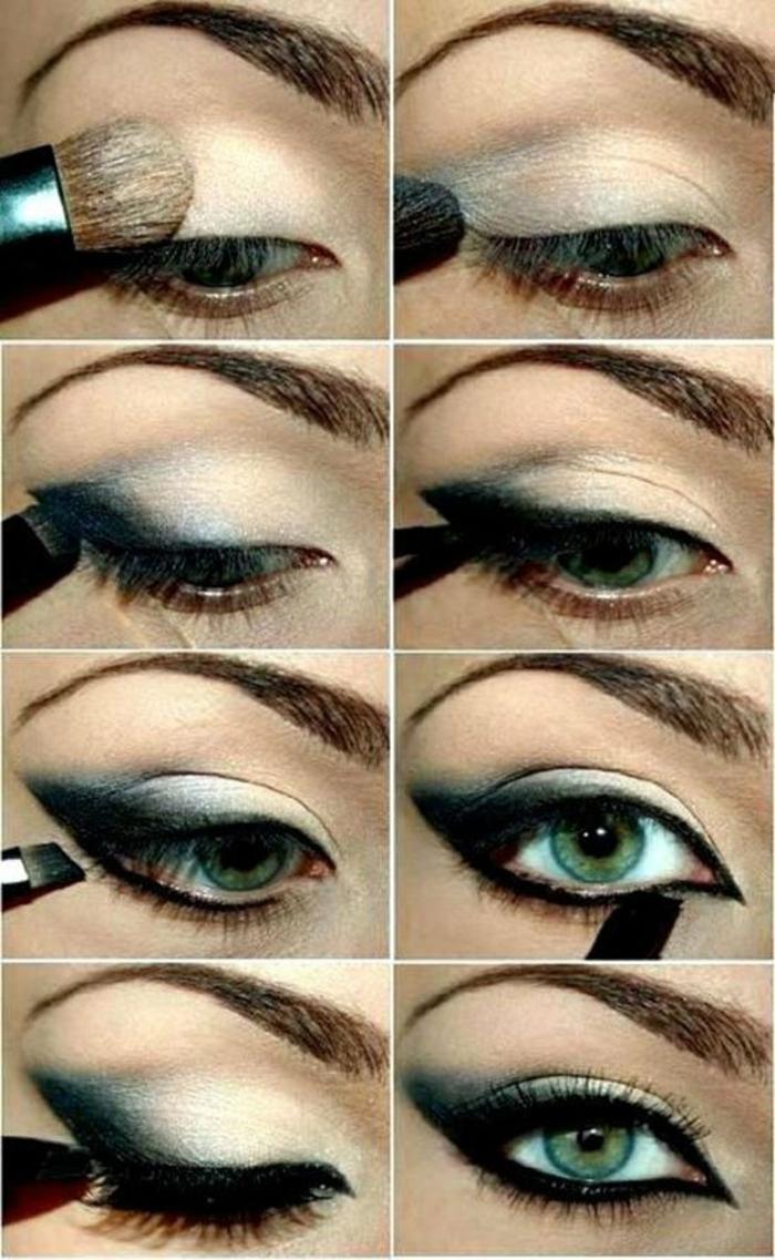 maquillage-pour-yeux-vert-maquillage-des-yeux-verts-ligneur-noir-idées-resized