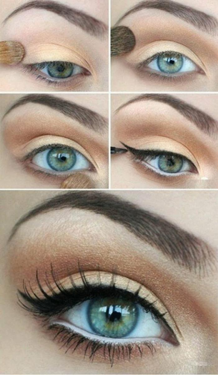 maquillage-pour-yeux-vert-maquillage-des-yeux-verts-ligneur-noir-tuto-resized