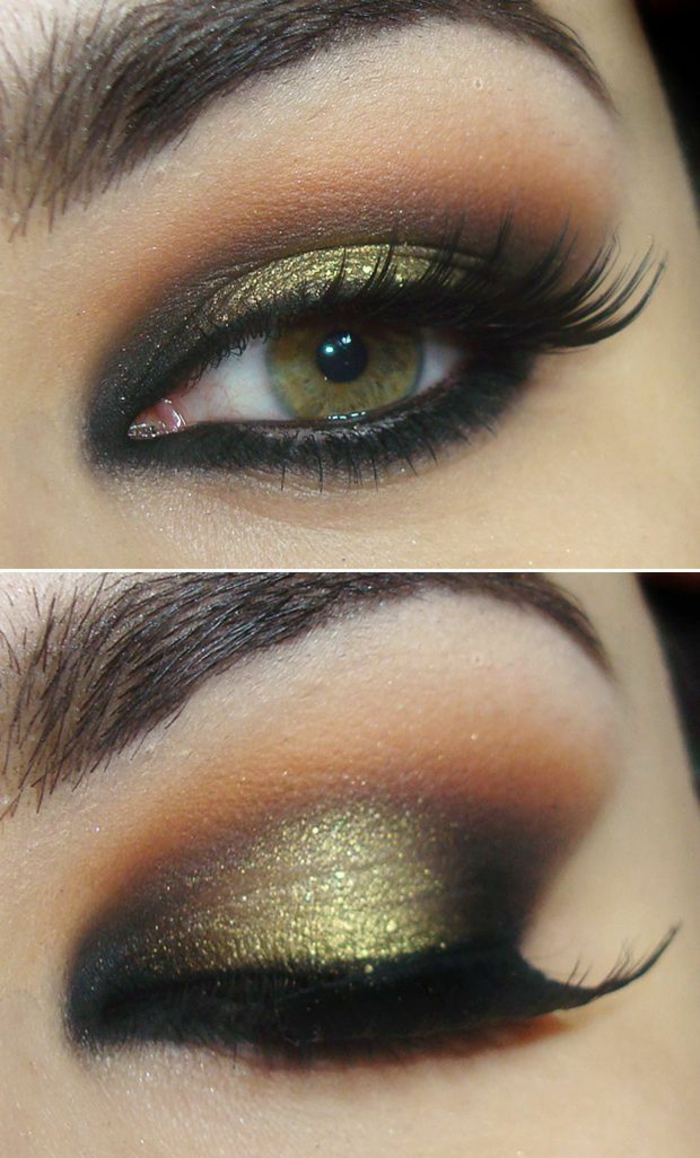 Makeup-eyes-green-brown make-night-eyes-green-blink-of-eye-resized