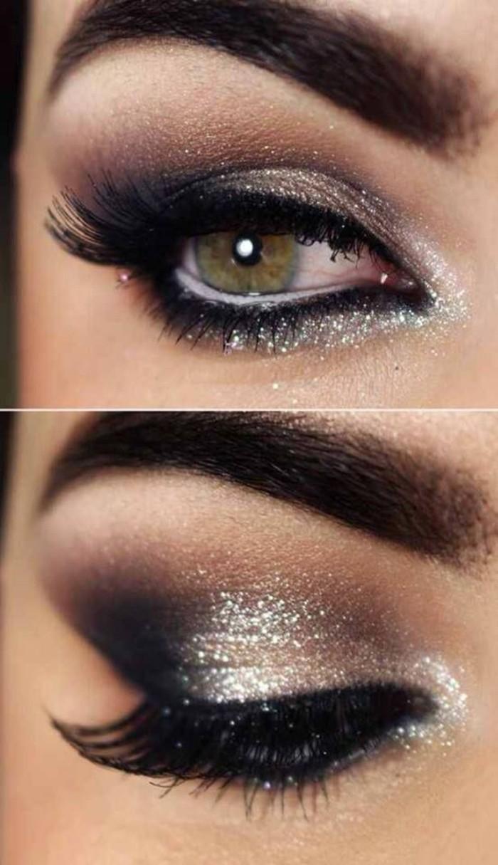 maquillage-yeux-vert-marron-maquillage-soirée-yeux-verts-oeil-clingant-resized