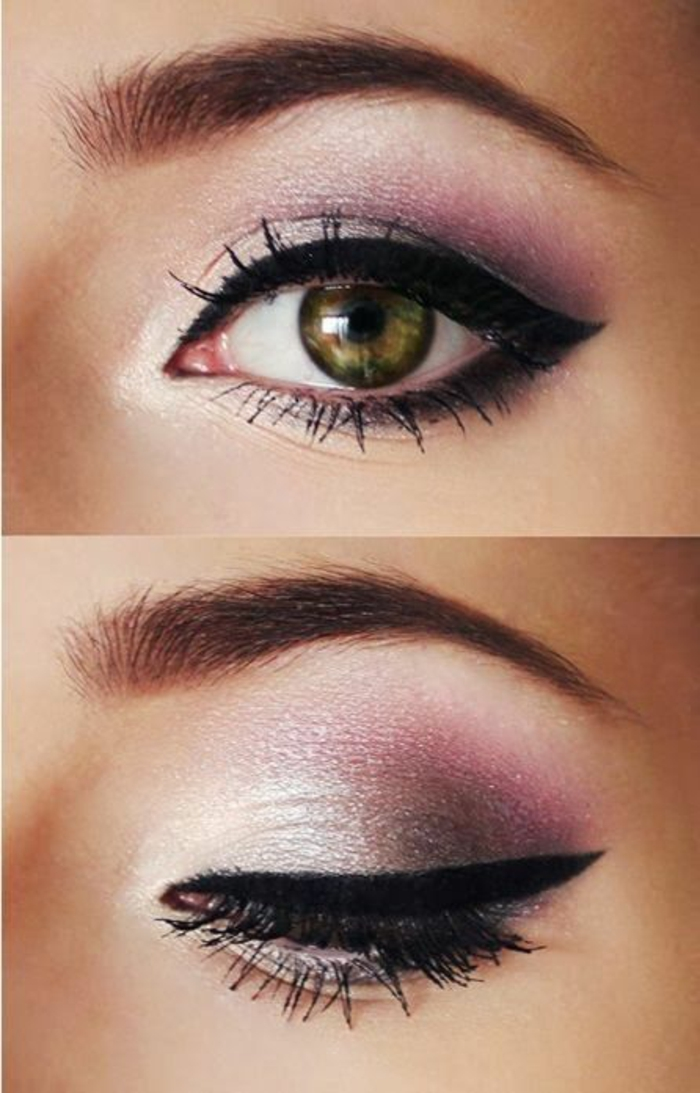 maquillage yeux verts soiree