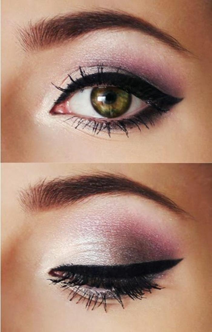 maquillage-yeux-vert-marron-maquillage-soirée-yeux-verts-tones-rouges-ombre-resized