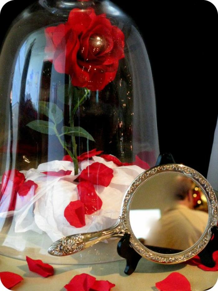 mariage-conte-de-fée-la-belle-et-la-bête-disney-déco-festive-décoration-table-déco-miroir