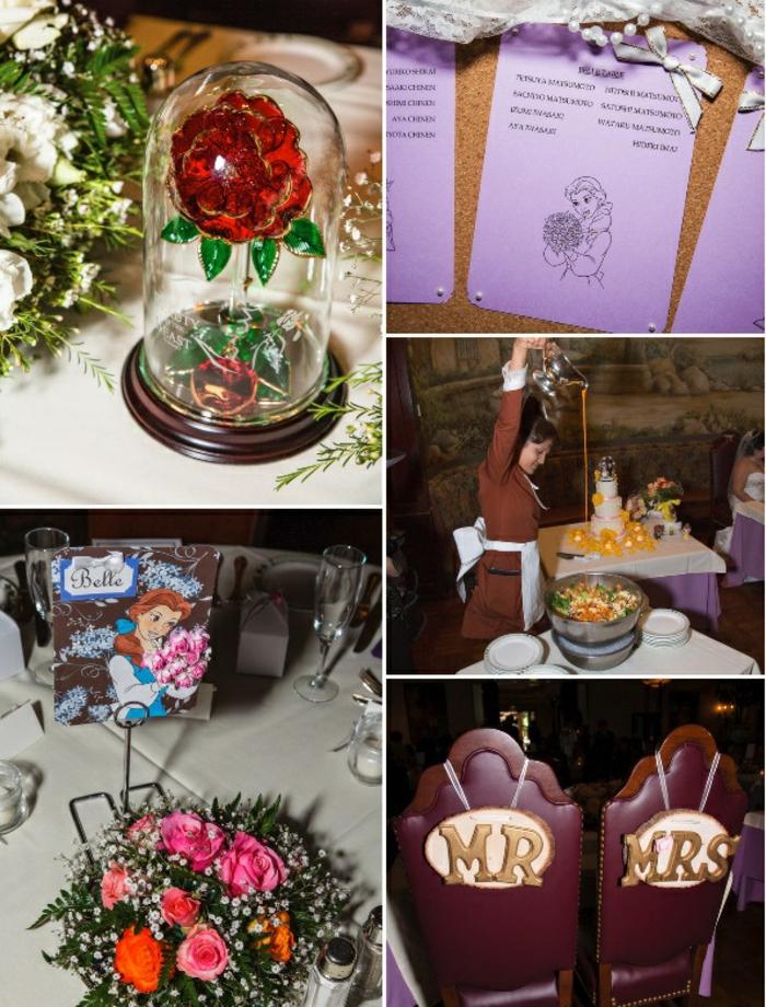 mariage-la-belle-et-la-bete-disney-accessoires-idées-faire-à-soi-même-monsieur-et-sa-damme