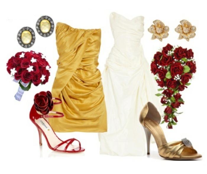 mariage-robe-de-princesse-mariée-de-Disney-Belle-et-la-bête-accessoires-mariée-et-demoiselle-d-honneur-robe-jaune