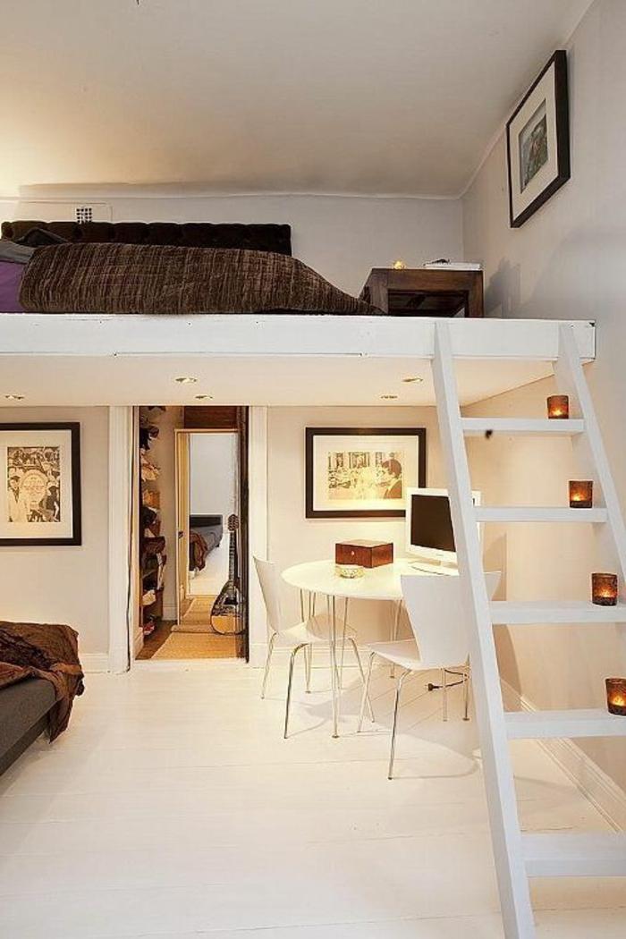 Comment bien choisir un meuble gain de place en 50 photos for Rangement petit espace