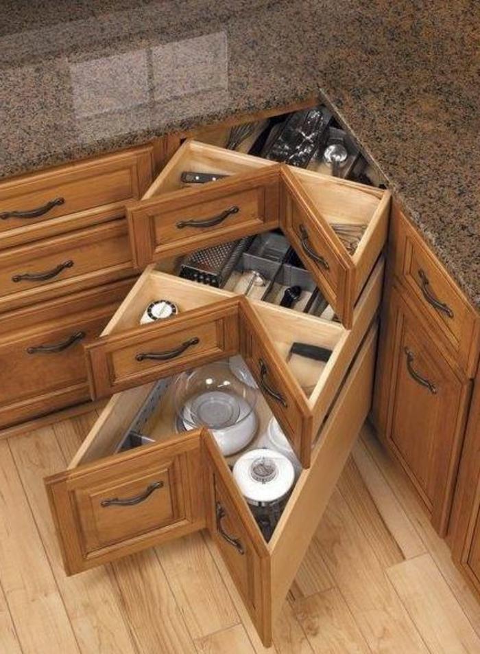 Comment bien choisir un meuble gain de place en 50 photos - Cuisine meuble bois ...