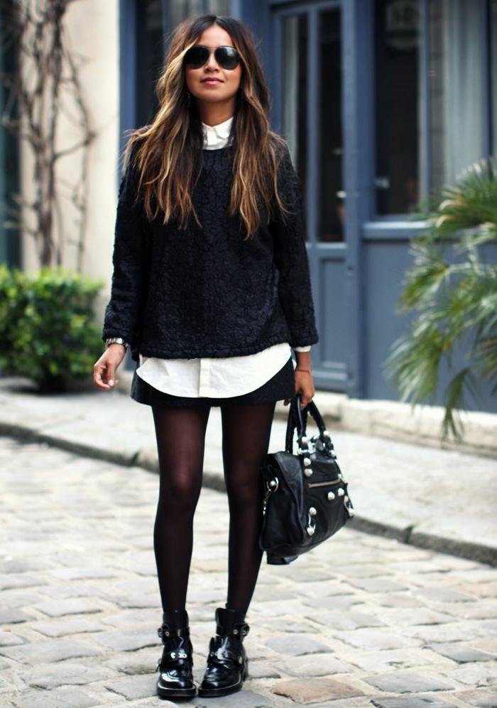 minelli-chaussures-noires-bottines-pour-la-femme-moderne-avec-sac-en-cuir-noir