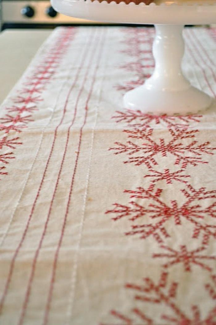 nappe-lin-enduit-au-mètre-comment-aménager-la-salle-à-manger-motifs-rouge-et-blanc