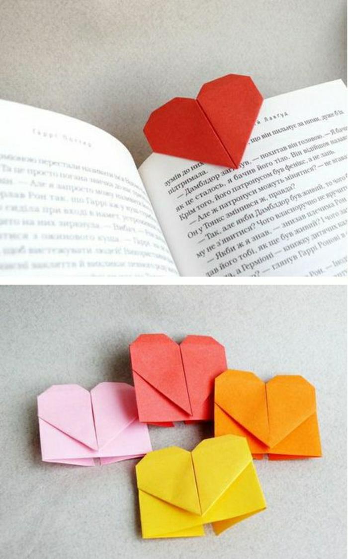 origami-coeur-pour-un-marque-page-original-pour-votre-livre-idee-comment-separer-les-pages-avec-un-marque-page