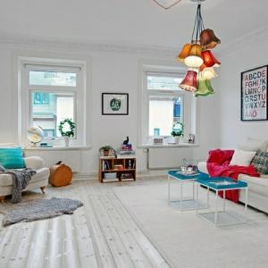 Le parquet blanc - une jolie tendance déco