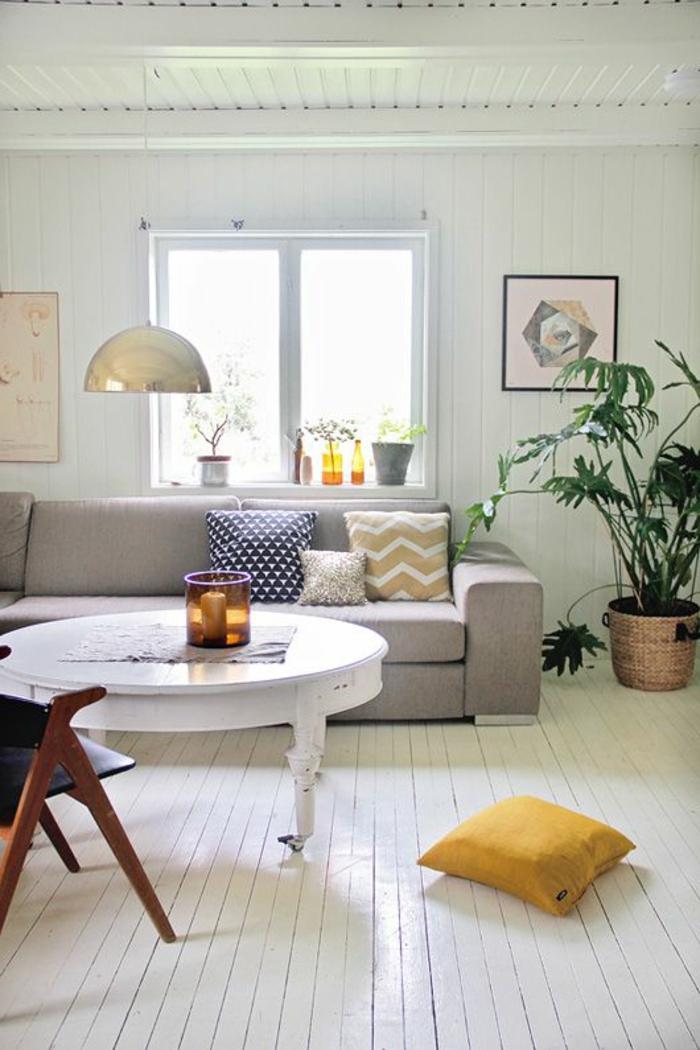 parquet-blanc-salle-de-séjour-blanche-table-ronde