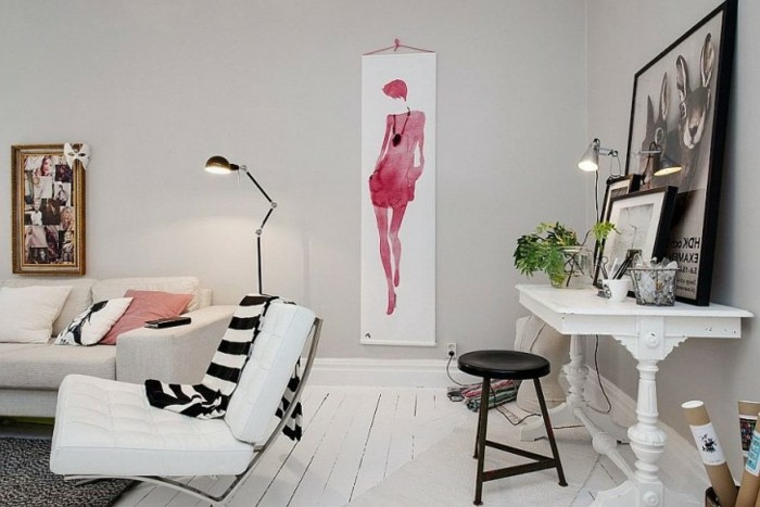 parquet-blanc-une-salle-de-séjour-artistique