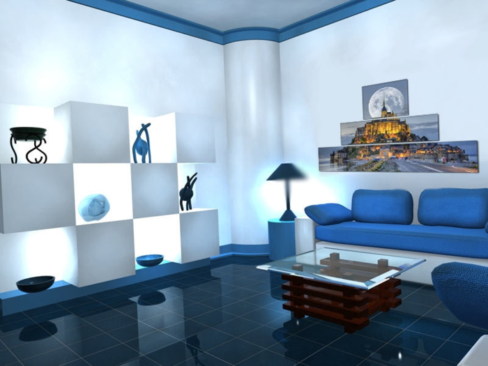 Design d 39 int rieur styl avec le tableau triptyque - Deco murale design et stylee enidees inspirantes ...