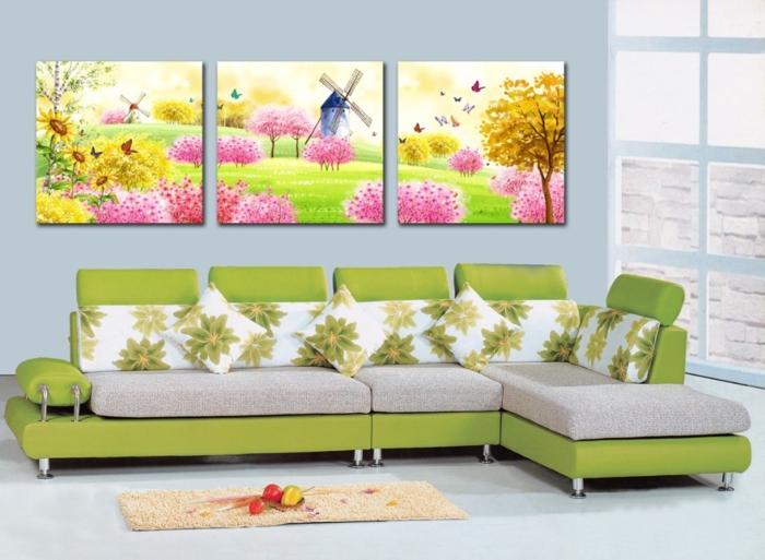 paysage-tableau-deco-murale-deco-murale-design-idéeoriginale-canapé-vert