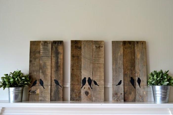 decoration murale design en bois. Black Bedroom Furniture Sets. Home Design Ideas