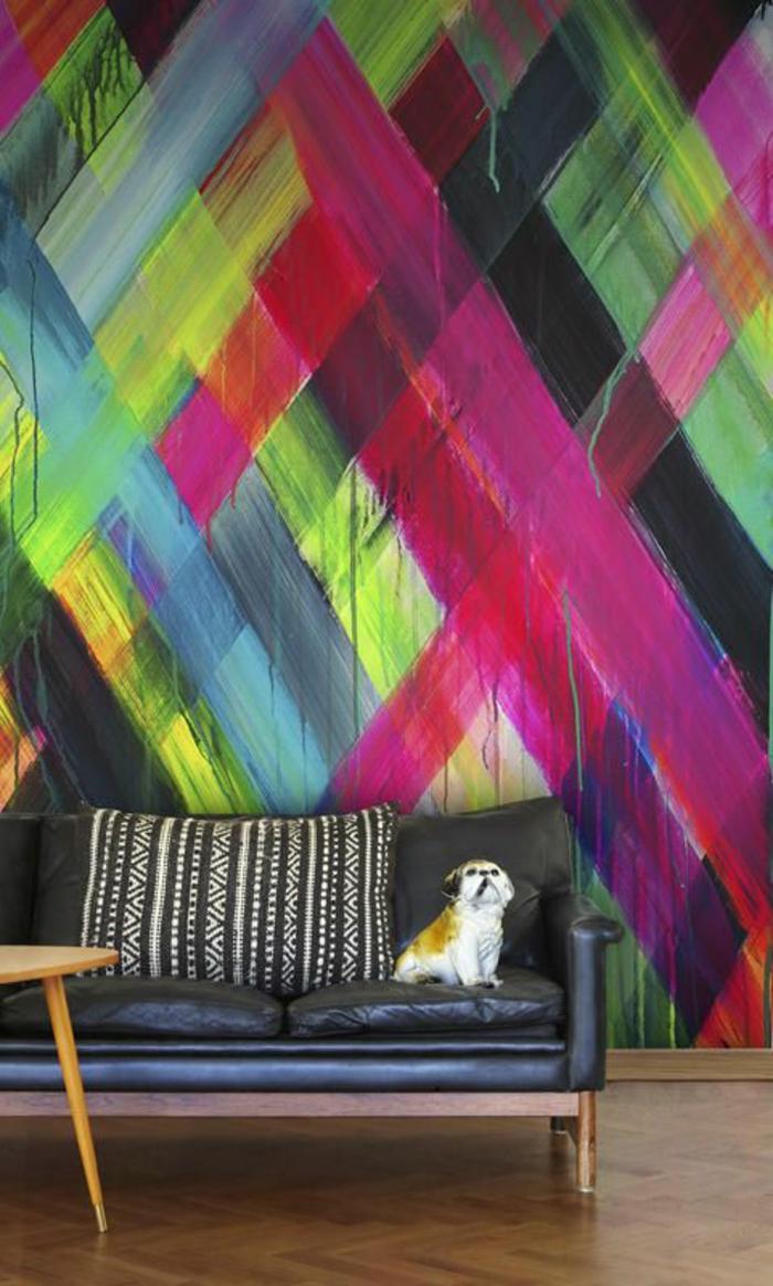 pepier-peint-lutece-geometrique-pour-les-murs-dans-le-salon-tapisserie-leroy-merlin-colorée