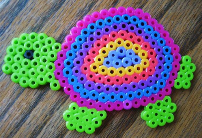 perles-à-repasser-tortue-colorée-sympa