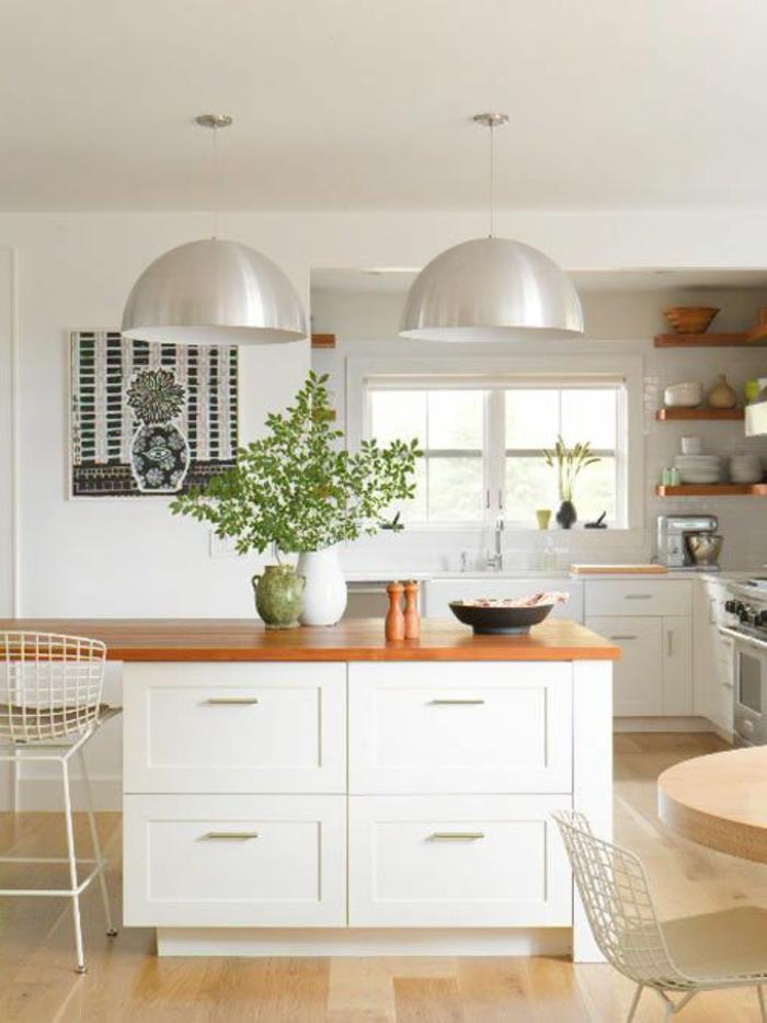 petite-cuisine-ouverte-sol-en-parquet-clair-et-plantes-d-intérieur-modenres-lustre-blanche